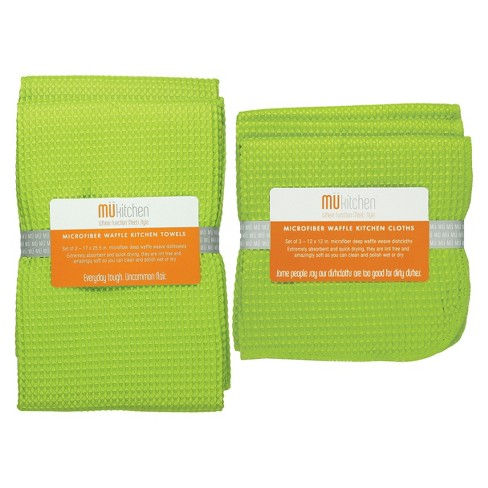 Ultra Absorbent Microfiber Waffle Kitchen Towel And Dish Cloth Set - Mu Kitchen - image 1 of 1