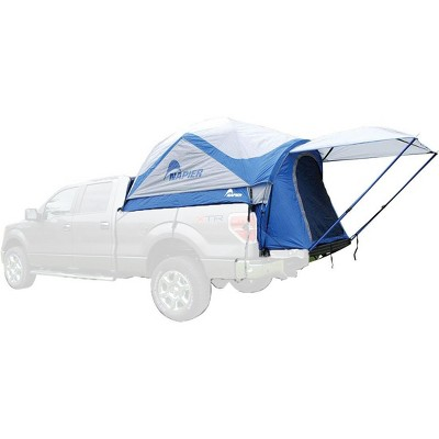 Napier Sportz Vehicle Specific Compact Short Truck Bed Portable 2 Person Outdoor Camping Tent with Optional 4 x 4 Foot Sun Awning, Blue