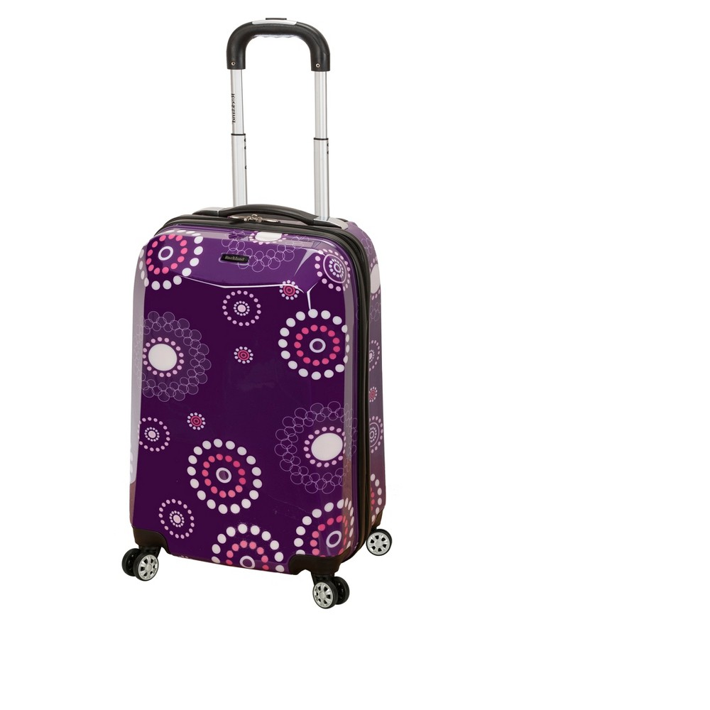 Rockland Vision 20 Spinner Suitcase Purple Pearl