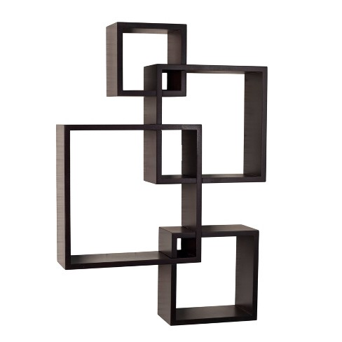 Intersecting Cube Shelves - Espresso - image 1 of 6