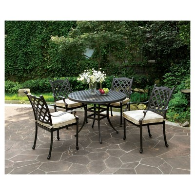 Marley Modern Round Patio Dining Table   Bronze   Furniture Of America :  Target