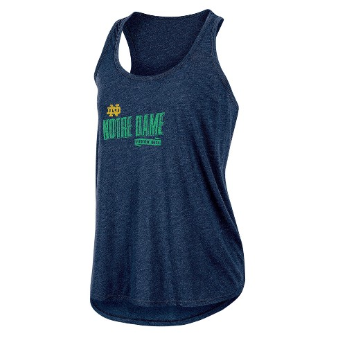 NCAA Women's Gameday Heathered Racerbank Soft Touch Poly Tank Top Notre Dame Fighting Irish - image 1 of 1