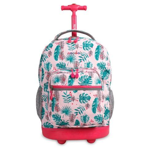 "J World 18"" Sunrise Rolling Backpack - Palm Leaves - image 1 of 4"
