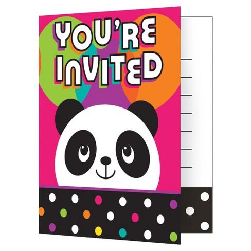 8ct panda invitations target