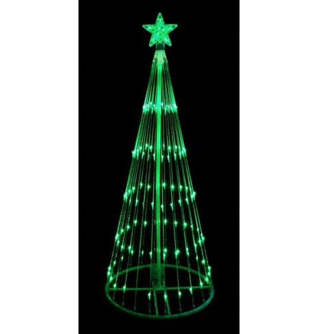 About this item - Northlight 12' Green LED Lighted Show Cone Christmas Tree Outdoor