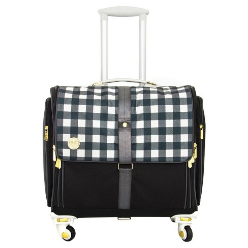 "360 Crafter's Rolling Bag-Black Plaid 20""x18"" - image 1 of 1"