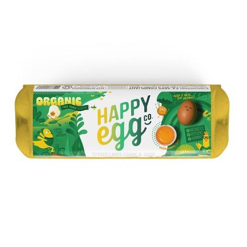 Happy Egg Large Brown Organic Free Range Grade A Eggs - 12ct - image 1 of 4