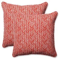 Outdoor/Indoor Herringbone Throw Pillow Set of 2 - Pillow Perfect®