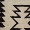 "Ivory/Black Southwestern Stripe Throw Pillow 18""x18"" - Rizzy Home - image 2 of 4"