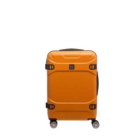 """FUL 25"""" Molded Hardside Spinner Suitcase - Orange - image 1 of 4"""