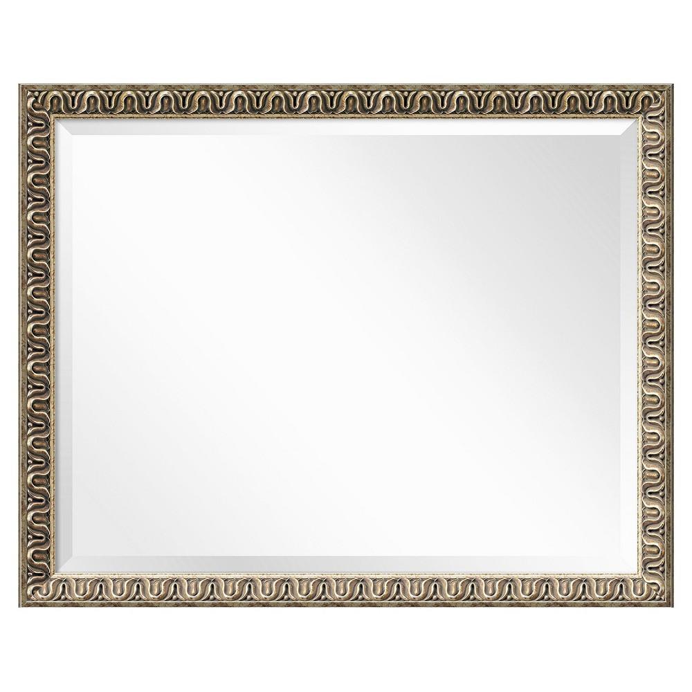 Rectangle Argento Decorative Wall Mirror - Amanti Art, Light Gold