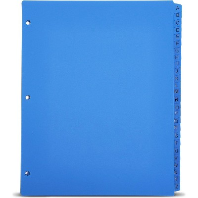 Bright Creations 3 Ring Binder Dividers with Tabs, Alphabetical A-Z (26-Sheets), Table of Contents Index, Blue