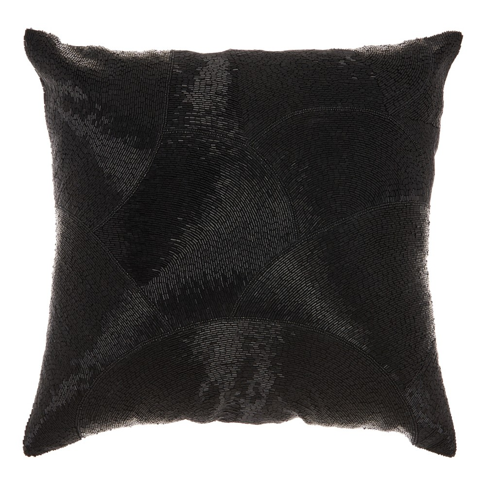 Image of Black Mosaic Throw Pillow - Mina Victory