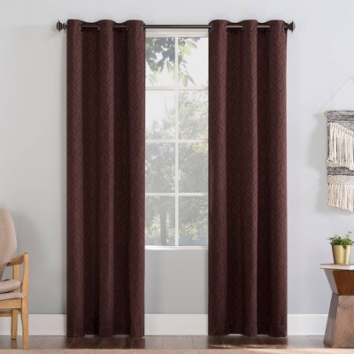 Matias Trellis Draft Shield Fleece Insulated Energy Saving Grommet Top Room Darkening Curtain Panel - No. 918