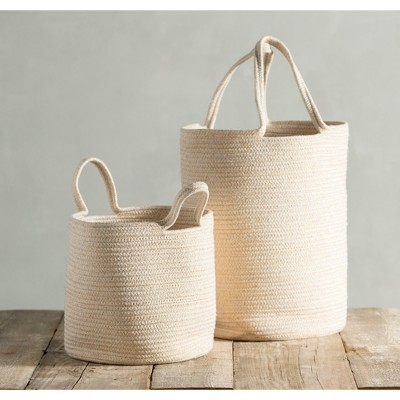 Assorted Set Of 2 Goldie  Baskets  - Gold - Shiraleah