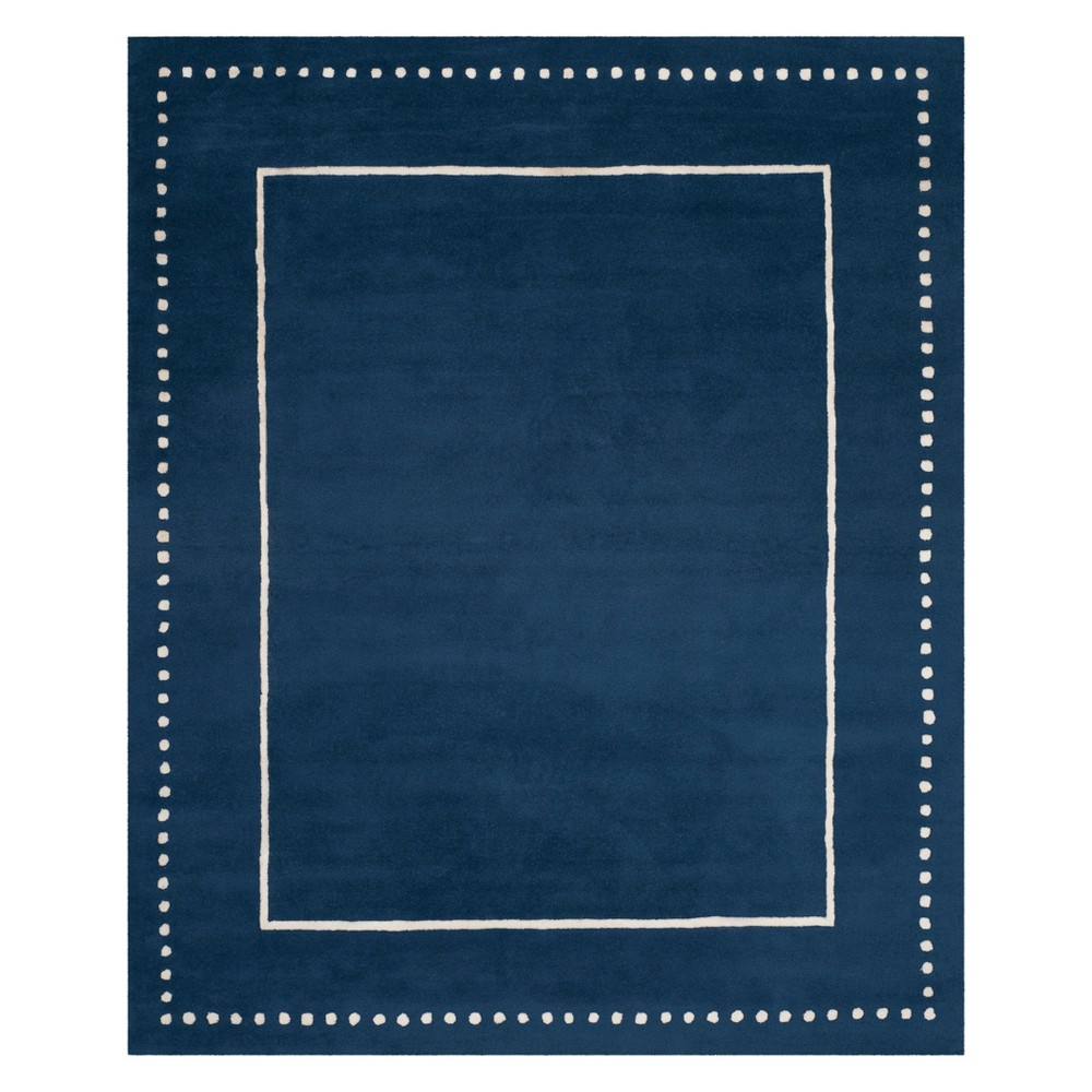 8'X10' Solid Area Rug Navy Blue/Ivory - Safavieh