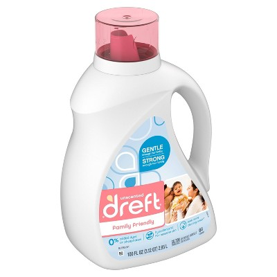 Dreft Family Friendly Unscented Laundry Detergent - 100 fl oz