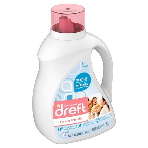 Dreft Family Friendly Unscented Laundry Detergent - 100 fl oz - image 1 of 4
