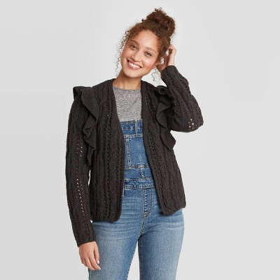 Women's Ruffle Cardigan - Universal Thread™