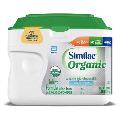 Similac Organic Non-GMO Infant Formula with Iron Powder - 20.6oz