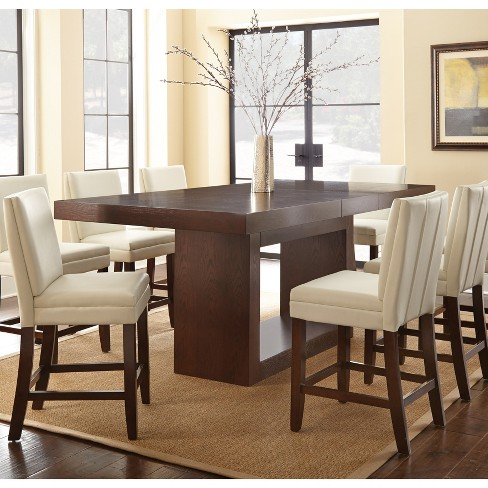 7pc Abbot Counter Height Dining Set White - Steve Silver - image 1 of 3