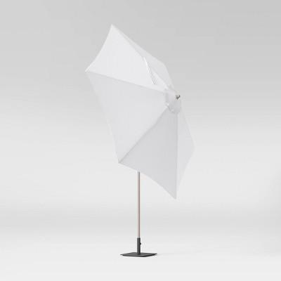 9' Veranda Stripe Round Patio Umbrella DuraSeason Fabric™ Navy - Threshold™