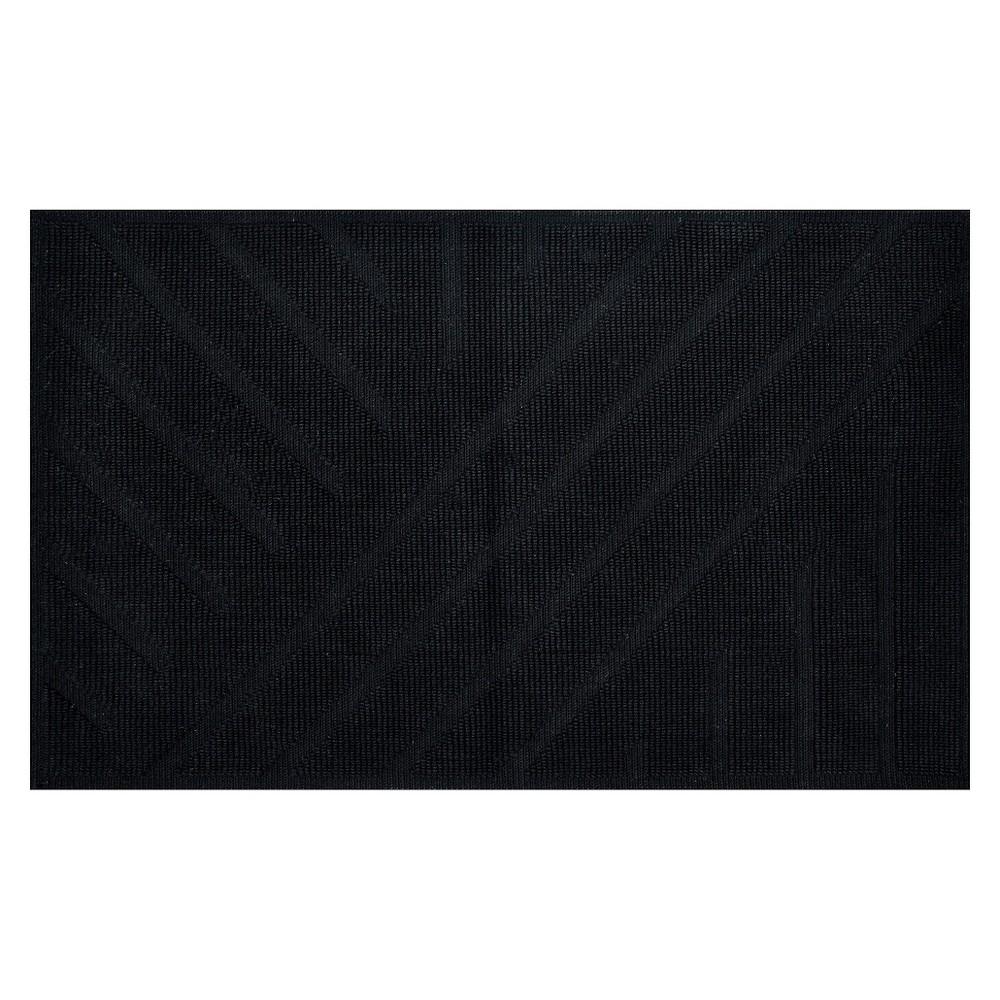 "Image of ""20""""x34"""" Geo Stripe Bath Mat Black - Project 62 + Nate Berkus"""
