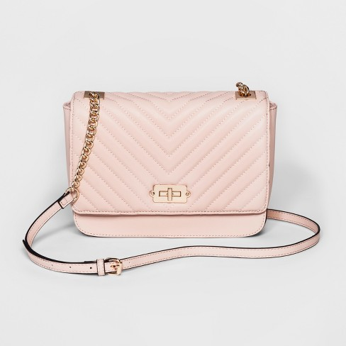 Quilted Crossbody Bag - A New Day™ Light Pink   Target 0b659332cc0d