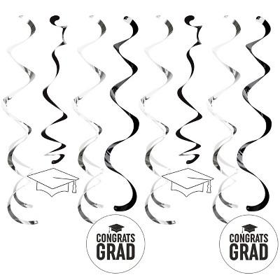 8ct White Graduation Dizzy Danglers