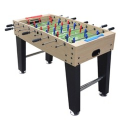 "Hathaway Metropolis 48"" Foosball Table with Spring-Loaded Telescopic Safety Rods - Maple"