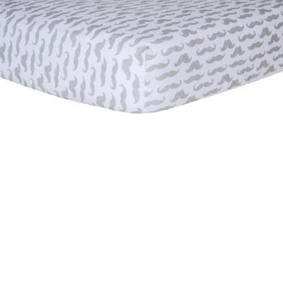 Trend Lab Mustache Flannel Crib Sheet