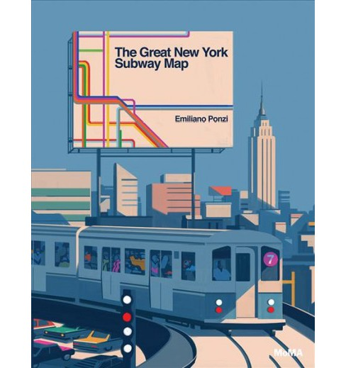 Great New York Subway Map -  by Emiliano Ponzi (School And Library) - image 1 of 1