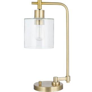 Hudson Industrial Desk Lamp Brass Includes Energy Efficient Light Bulb - Threshold™