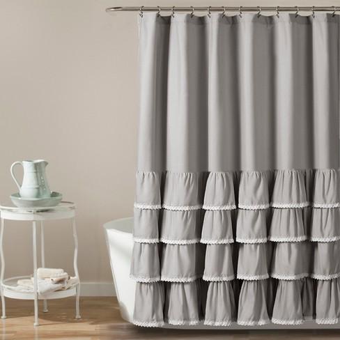 72x72 Ella Lace Ruffle Shower Curtain