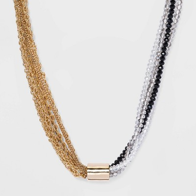 Beaded Tube Chain Necklace - A New Day™