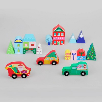 16ct Wood Toy Holiday Village - Bullseye's Playground™