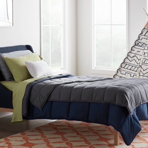 """48"""" x 72"""" Comfort Collection Weighted Bed Blanket Gray - Lucid - image 1 of 4"""