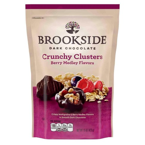 Brookside Crunch Clusters Berry Medley Flavors in Dark Chocolate - 15oz - image 1 of 4
