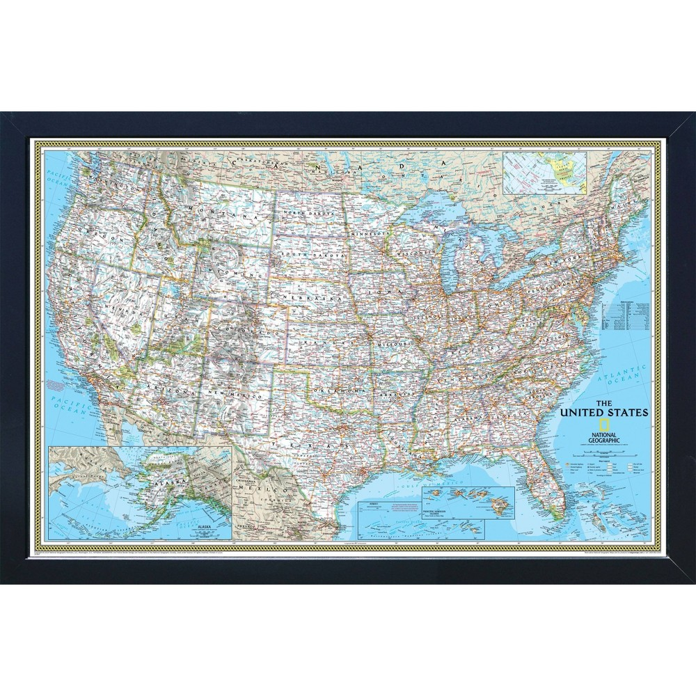 National Geographic Magnetic Travel Map Usa Classic Standard