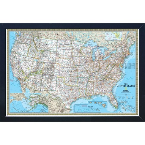 National Geographic Magnetic Travel Map Usa Classic Standard Target