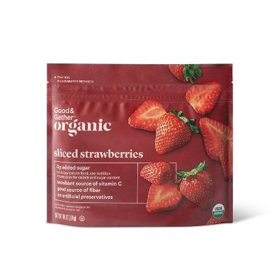 Organic Frozen Sliced Strawberries - 10oz - Good & Gather™
