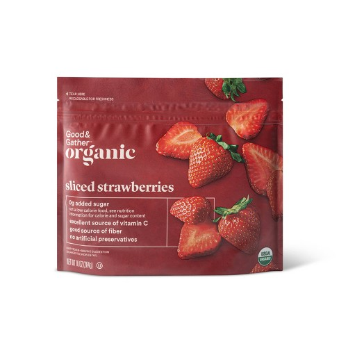 Organic Frozen Sliced Strawberries - 10oz - Good & Gather™ - image 1 of 2
