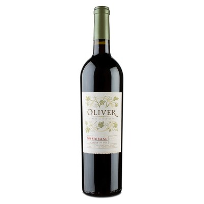 Oliver Dry Red Blend Wine - 750ml Bottle