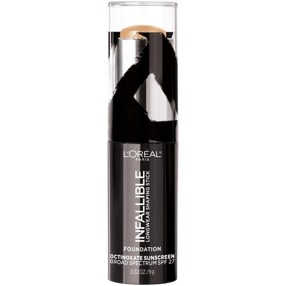 L'Oréal Paris Infallible Longwear Shaping Foundation Makeup Sticks Warm Beige - .32oz