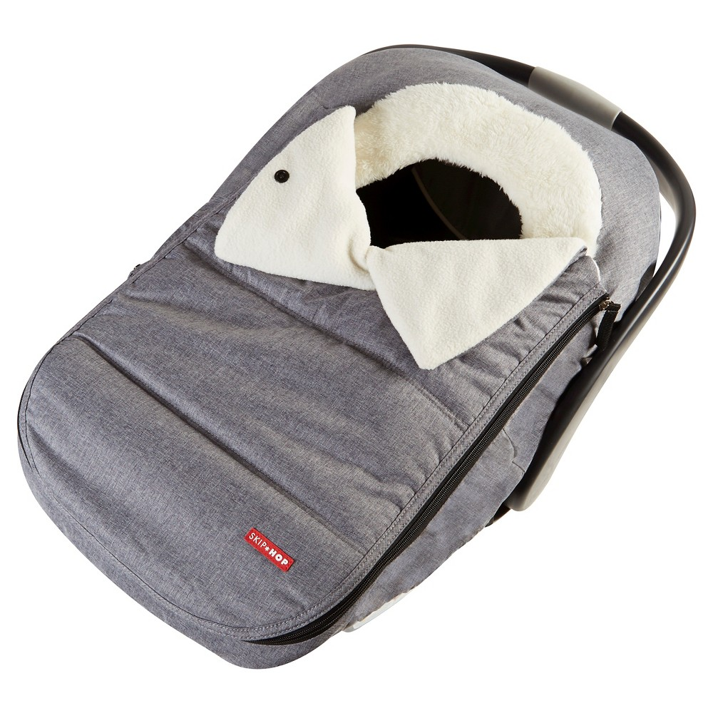 Image of Skip Hop STROLL & GO Car Seat Cover - Heather Gray, Grey Gray