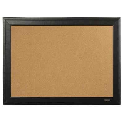 Quartet Cork Bulletin Board, Black Frame, 23 x 79281