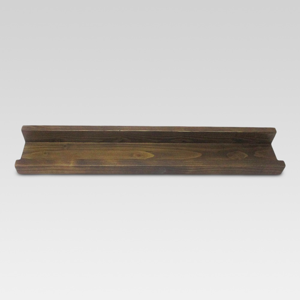"Image of ""23"""" x 4.3"""" Wood Ledge Wall Shelf Brown - Threshold , Size: 23"""" x 4.3"""""""