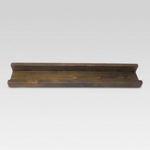 "23"" x 4.3"" Wood Ledge Wall Shelf Brown - Threshold™ - image 1 of 1"