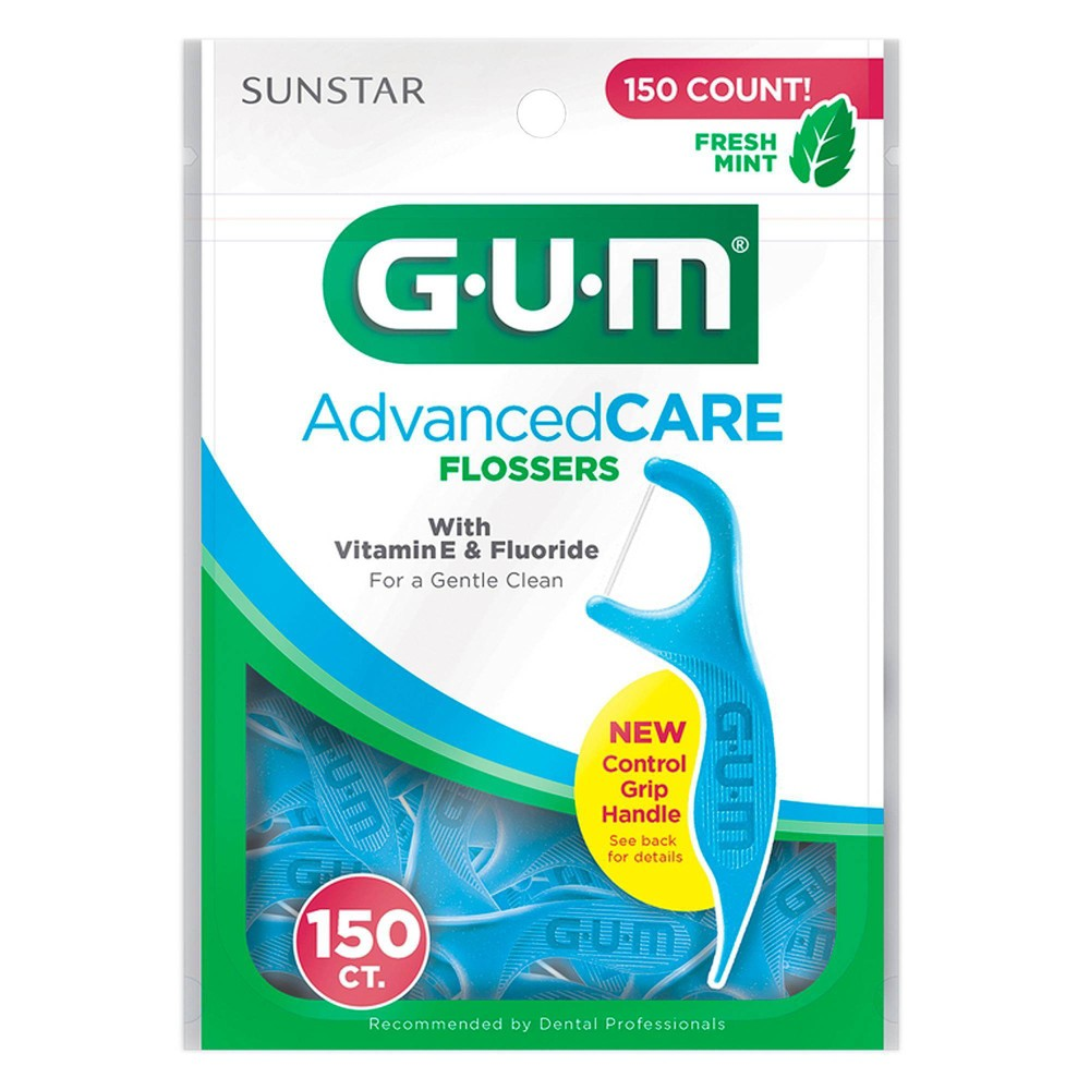 Image of GUM Advanced Care Flossers Mint - 150ct