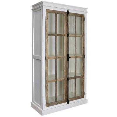 Tucker Curio Cabinet White/Natural - Stylecraft